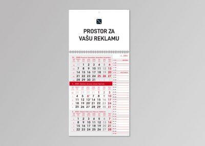 Trodijelni kalendari memo 2021.