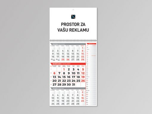 Trodjelni kalendari memo 2021.